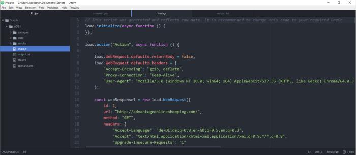TruWeb - Generated script - Atom.io